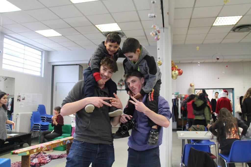 Florin et David avec Amaury et Léo
